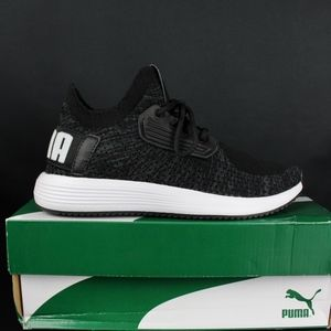 PUMA Black Iron Gate White Uprise Knit Women